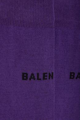 Фиолетовые носки с логотипом Balenciaga 397104587