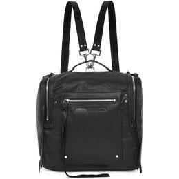 MCQ by Alexander McQueen Black Convertible Loveless Box Backpack 191114F04200201GB