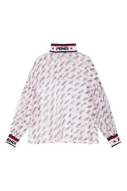 Белая блузка с контрастным принтом Fendi 1632105345