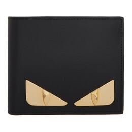 Fendi Black and Gold Bag Bugs Wallet 7M0169 SQP