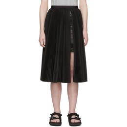 Sacai Black Pleated Poplin Skirt SCW-006