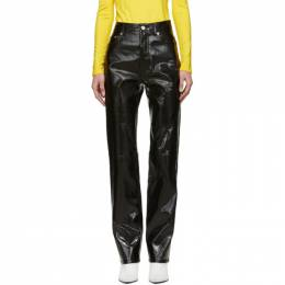 Helmut Lang Black Patent Leather Trousers 191154F08700701GB