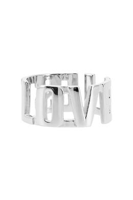 Серебристое кольцо с резными буквами Insight 2800106275