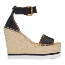 See By Chloe Black Glyn Platform Sandals SB26152 09009