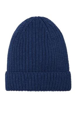 Вязаная шапка синего цвета Blank.Moscow 92106608