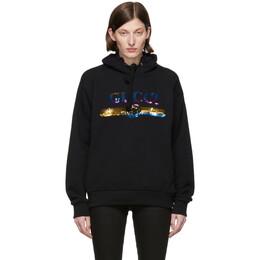 Gucci Black Sequin Logo Hoodie 191451F09701102GB