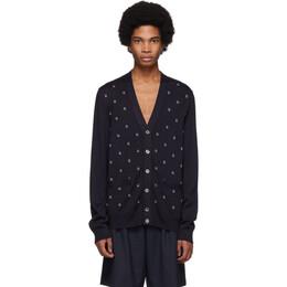 Gucci Navy Wool G Dot Cardigan 546276 XKABL