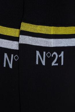 Черные носки с отделкой полосами No. 21 35106948