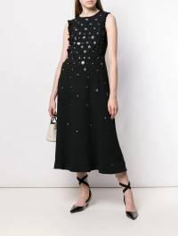 Red Valentino - платье макси с цветочным узором и пайетками VA69DHQY935599990000
