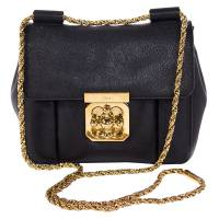 Chloe Black Leather Elsie Shoulder Bag 69264