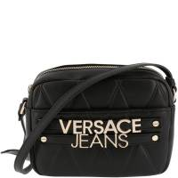 Versace Jeans Black Faux Quilted Leather Crossbody Bag 161971