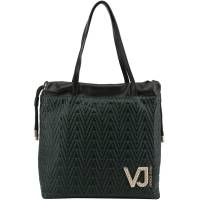 Versace Jeans Black Signature Faux Leather Drawstring Tote 161966