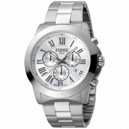 Ferre Milano Silver Stainless Steel FM1G079M0061 Men's Wristwatch 44MM 179663