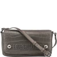 Love Moschino Grey Croc Embossed Faux Leather Crossbody Bag 169624