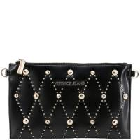 Versace Jeans Black Faux Leather Studded Clutch Bag 161912