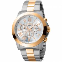 Ferre Milano Silver Rose Gold Plated Stainless Steel FM1G079M0091 Men's Wristwatch 44MM 179664