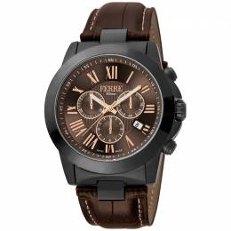 Ferre Milano Chocolate Ion Plated Stainless Steel FM1G079L0041 Men's Wristwatch 44MM 179662