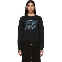Rag&Bone Black Outer Space Sweatshirt 191055F09800701GB
