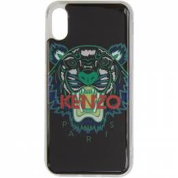 Kenzo Black and Green Tiger iPhone X Case 191387M15301001GB