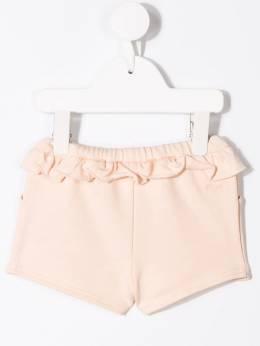 Chloe Kids шорты со шнурком и оборками C0413144B
