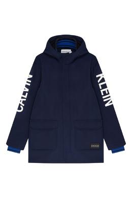 Синяя куртка с логотипом Calvin Klein Kids 2815109047