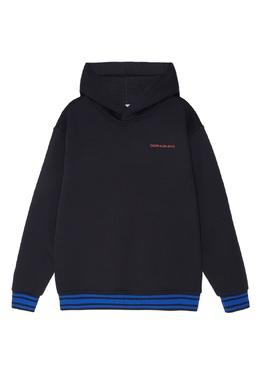 Черное хлопковое худи Calvin Klein Kids 2815109041