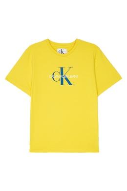 Желтая футболка с логотипом Calvin Klein Kids 2815109056