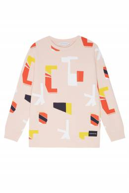 Розовый свитшот с принтом Calvin Klein Kids 2815109054