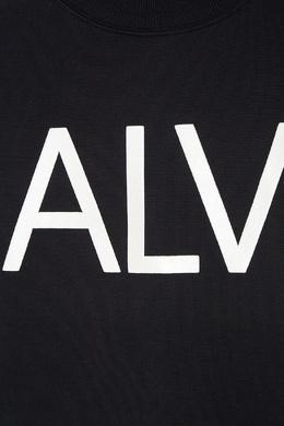 Черный свитшот с принтом Calvin Klein Kids 2815109060