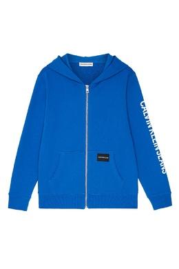 Синее худи на молнии Calvin Klein Kids 2815109062