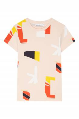 Розовая футболка с принтом Calvin Klein Kids 2815109036