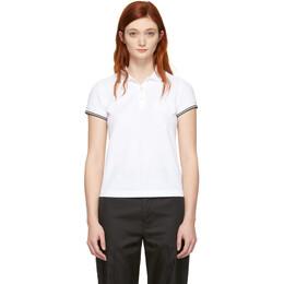 Moncler White Logo Polo 191111F10800201GB