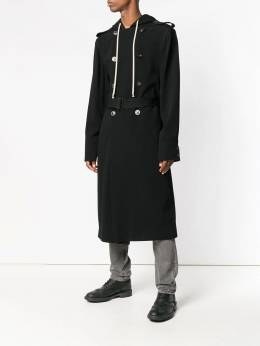 Rick Owens - hooded double-breasted coat 8F9989WVT93685903000