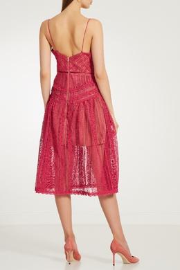 Розовое ажурное платье Self-portrait 532109848