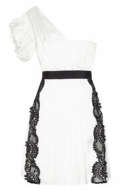 Асимметричное белое платье Self-portrait 532109808