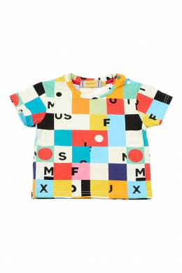 Разноцветная футболка с кнопками #MumOfSix 2642110997