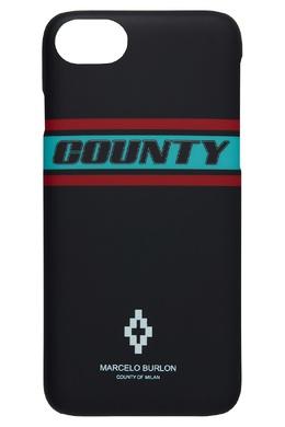 Чехол для iPhone 8 с полосами и логотипом Marcelo Burlon County Of Milan 29109701