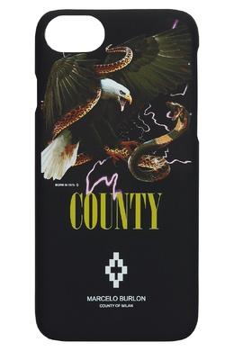 Чехол для iPhone 8 с орлом и змеей Marcelo Burlon County Of Milan 29109705