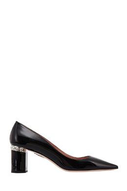 Лакированные черные туфли с кристаллами Miu Miu 375110879