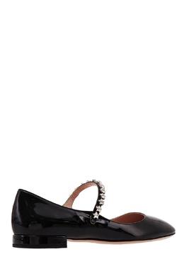 Черные туфли на низком каблуке Miu Miu 375110884