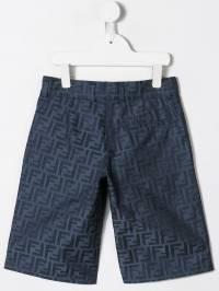 Fendi Kids - шорты с логотипом 'FF' 996A6A59365530800000