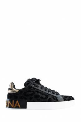 Черные кеды с фактурным узором Dolce&Gabbana 599111092