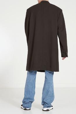 Черное двубортное пальто оверсайз Balenciaga Man 2673111263