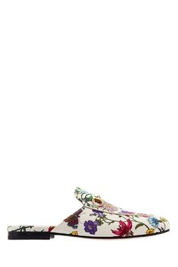 Текстильные слиперы Princetown Flora Gucci 470112133
