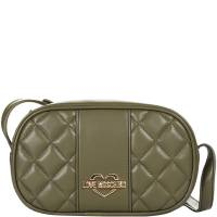 Love Moschino Green Quilted Faux Leather Camera Crossbody Bag 172255