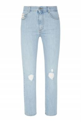 Голубые джинсы с прорезями Stella McCartney 193112518