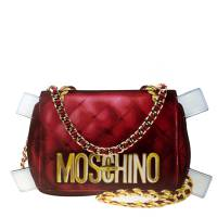 Moschino White/Red Leather Shoulder Bag 177921