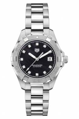 AQUARACER Calibre 9 Автоматические женские часы с черным циферблатом Tag Heuer 2849115478