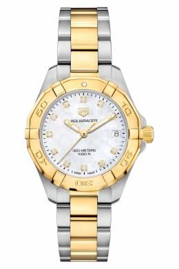 AQUARACER Кварцевые женские часы с белым циферблатом Tag Heuer 2849115476