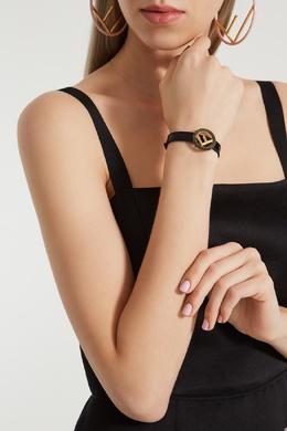 Черный кожаный браслет F is Fendi 1632114846